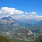 Overlooking Banff from Sulphur Mountain by hummingbirds