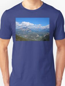 Overlooking Banff from Sulphur Mountain Unisex T-Shirt