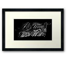 No Time For War Grunge White Framed Print