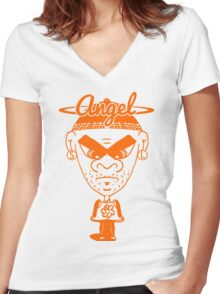 Angel Solo Women's Fitted V-Neck T-Shirt