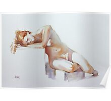A Resting Figure Poster