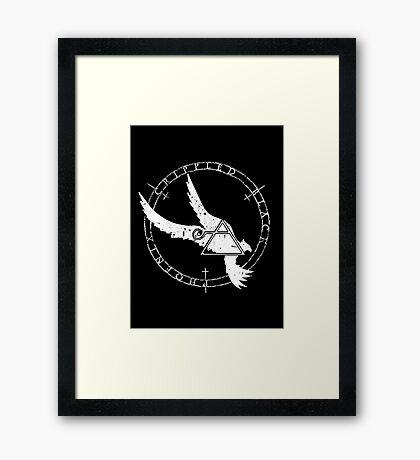 Crippled Black Phoenix 2015 A.D. (White V.1) Framed Print