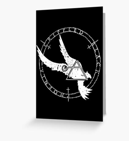 Crippled Black Phoenix 2015 A.D. (White V.1) Greeting Card