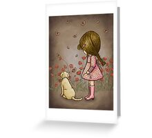 walking with the butterflies Greeting Card
