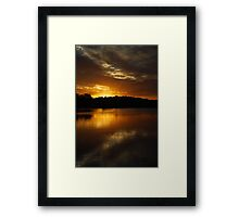 Dark Chocolate Orange Framed Print