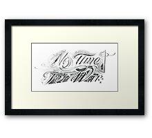 No Time For War Grunge Black Framed Print