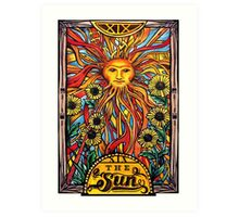 "Tarot Card Number 19 ""The Sun"" Art Print"