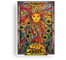 "Tarot Card Number 19 ""The Sun"" Canvas Print"