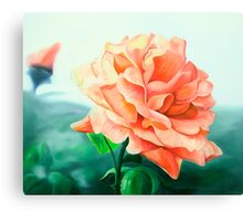 Rose Above - oil painting of a rose Canvas Print