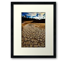 Consistently below average precipitation. Framed Print