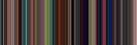 Moviebarcode: Tangled (2010) [Simplified Colors] by moviebarcode