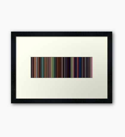 Moviebarcode: Tangled (2010) [Simplified Colors] Framed Print