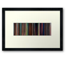 Moviebarcode: Tangled (2010) Framed Print