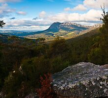 Looking at Mt Roland from Round Mountain Lookout by BaroqueLover