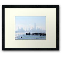 A Foggy New York Morning Framed Print