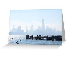 A Foggy New York Morning Greeting Card