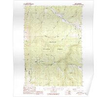 USGS Topo Map Oregon Bates 278951 1988 24000 Poster