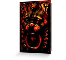 Gargoyle at the door - Prague Greeting Card