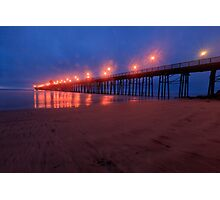 Oceanside Pier at Night Photographic Print