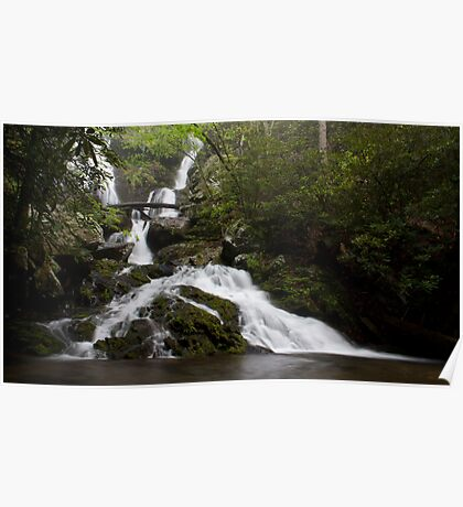 Middle Catawba Falls Poster