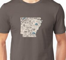 Arkansas Vintage Picture Map Unisex T-Shirt