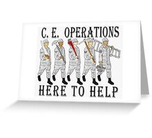 Military Poster-CE Operations Greeting Card