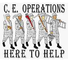 Military Poster-CE Operations Photographic Print