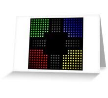 Pixel Fade Pattern Greeting Card