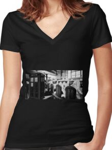 The Dark Church Women's Fitted V-Neck T-Shirt