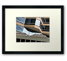 Shapes in city buildings - CBD Perth, Western Australia Framed Print