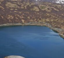 Aerial of Inlet, Kukak Bay, Katmai, Alaska, USA Sticker