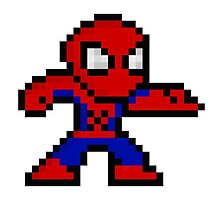 8-Bit Spider-Man by UniverseET