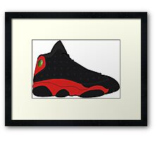 "Air Jordan XIII (13) ""Bred"" Framed Print"