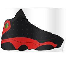 """Air Jordan XIII (13) """"Bred"""" Poster"""