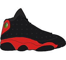 "Air Jordan XIII (13) ""Bred"" Photographic Print"