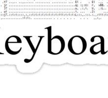 Texty Keyboard Sticker