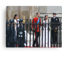 PRINCE WILLIAM AND CATHERINE MIDDLETON  Canvas Print