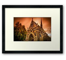 Blood Red Skies Of October Framed Print
