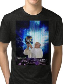 DJ EDM Earth Pope Francis The Pope is Dope! Tri-blend T-Shirt