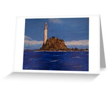 """Fastnet Rock Light""  (County Cork, Ireland) Greeting Card"