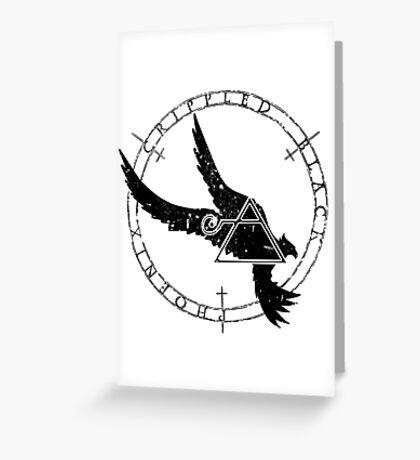 Crippled Black Phoenix 2015 A.D. (Black V.1) Greeting Card