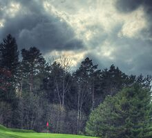 The Green at Hole #1 by Aaron Campbell
