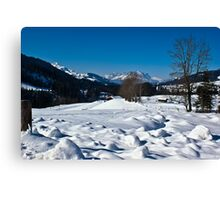 Snowscape 1 Canvas Print