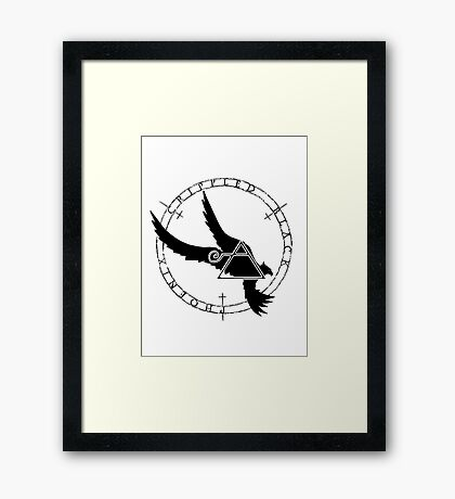 Crippled Black Phoenix 2015 A.D. (Black V.2) Framed Print