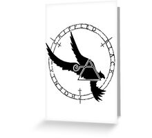 Crippled Black Phoenix 2015 A.D. (Black V.2) Greeting Card