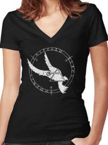 Crippled Black Phoenix 2015 A.D. (White V.1) Women's Fitted V-Neck T-Shirt