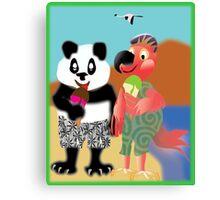 Larravide Ice Cream Stroll Canvas Print