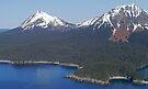 Aerial of mountains on Kodiak Island, Alaska, USA by Margaret  Hyde
