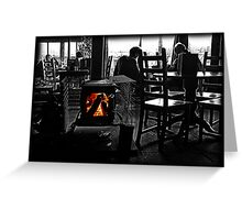Open fire Greeting Card