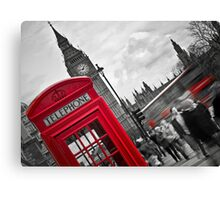 Telephone Booth in London Canvas Print